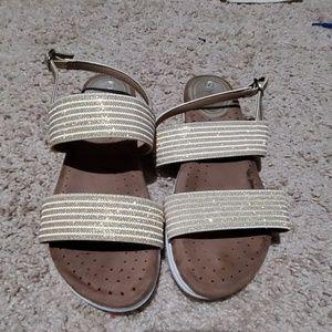 Gold glittery nature breeze sandals